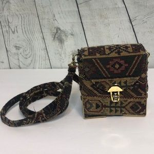 Vintage Tapestry Mini Mini Purse Removable Strap